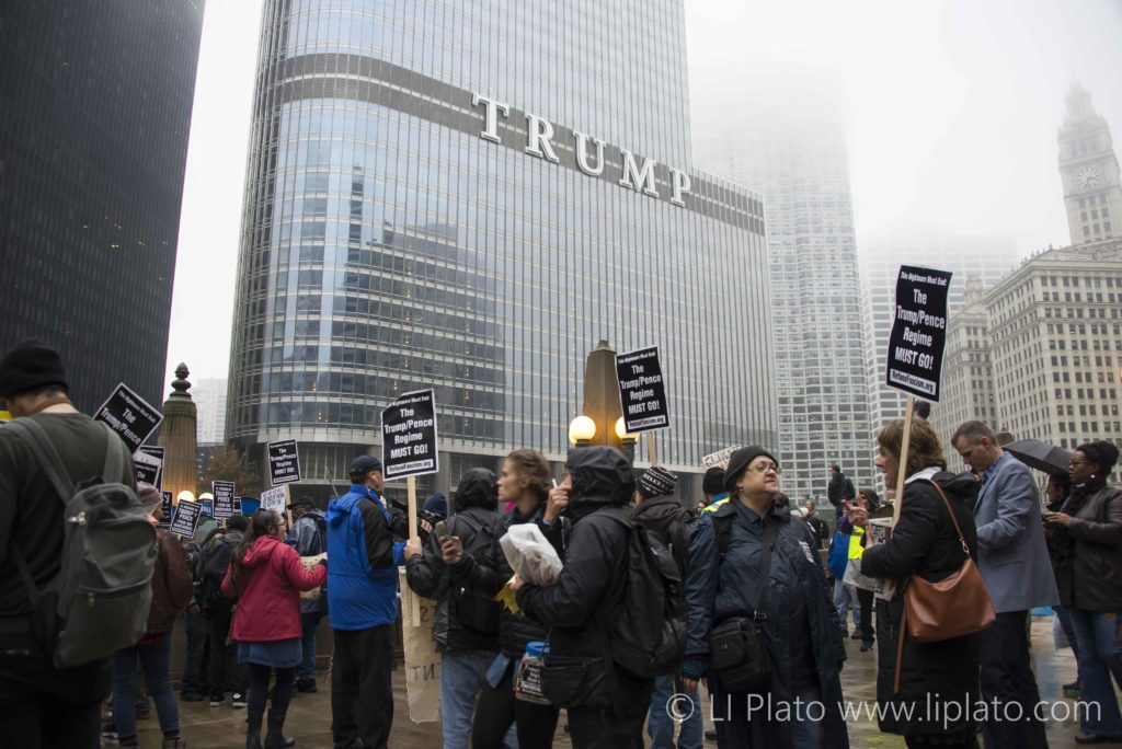 Anti-Trump Protests, Chicago, Illinois, United States, 2017